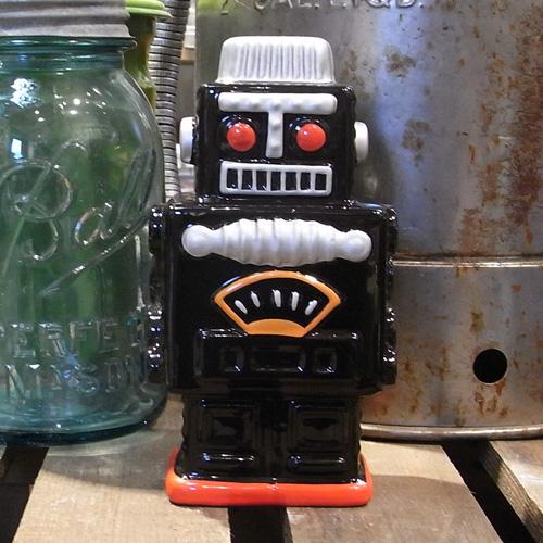 ロボットバンク 【ブラック】貯金箱 アメリカン雑貨の画像