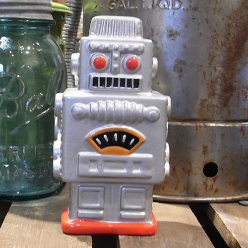 ロボットバンク 【シルバー】貯金箱 アメリカン雑貨の画像
