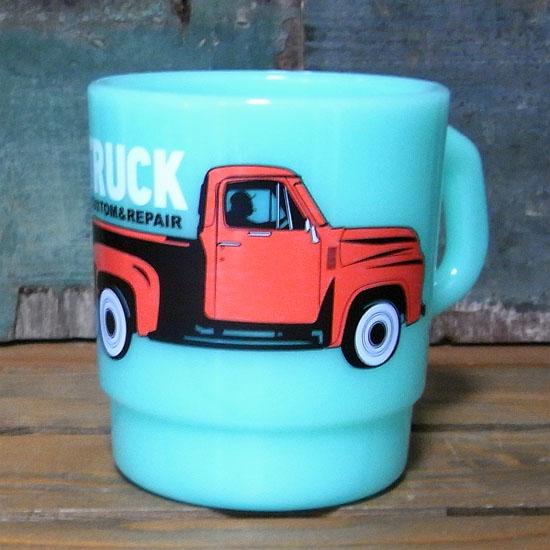 ピックアップトラック スタッキングマグカップ メラミン食器 アメリカン雑貨の画像