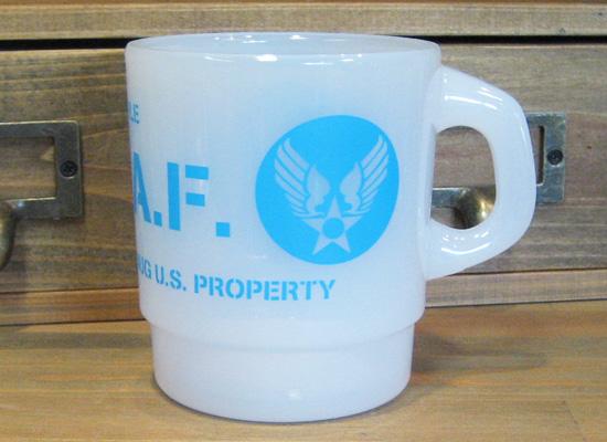 ミルキースタッキング マグカップ【U.S.A.F】 メラミン食器 アメリカン雑貨の画像