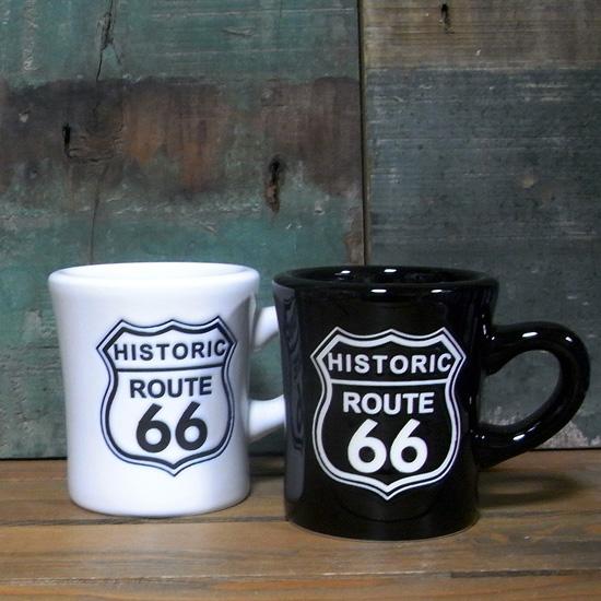 ルート66 マグカップ 陶器製 ROUTE66 アメリカン雑貨 の画像