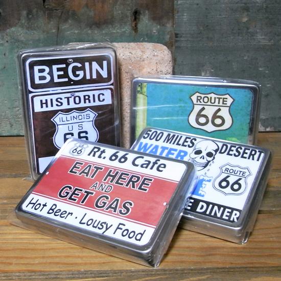 ルート66 マルチフリー缶 アメリカン雑貨の画像