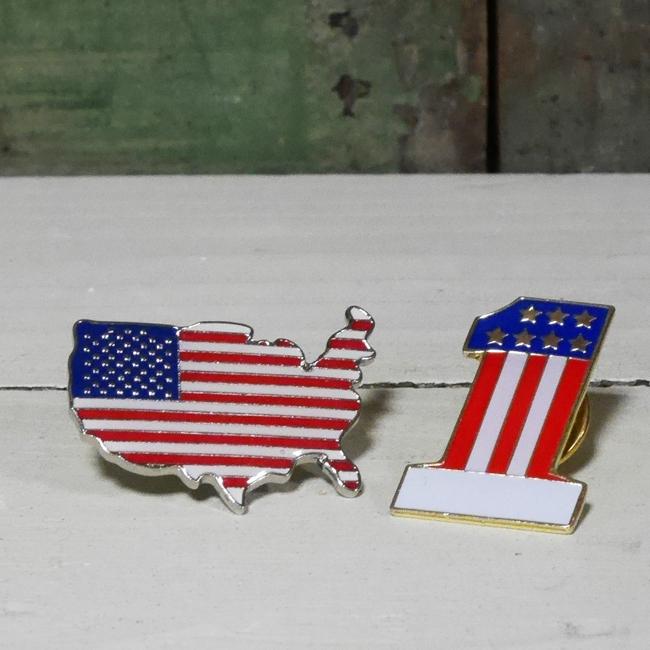ピンバッジ ピンズ アメリカ ナンバー1 アメリカン雑貨の画像