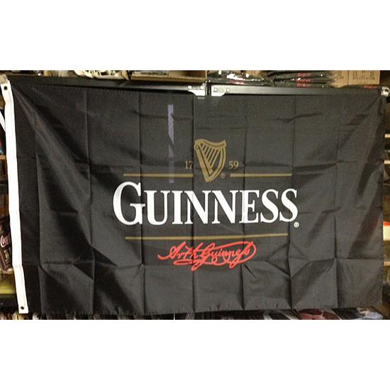 ギネスビール フラッグ タペストリー アメリカン雑貨の画像
