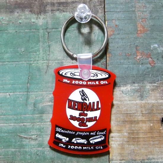 オイル缶 ラバー キーホルダー KENDALL ケンドル アメリカン雑貨の画像