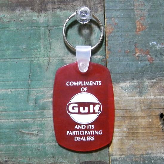 ラバー キーホルダー GULF ガルフ アメリカン雑貨の画像