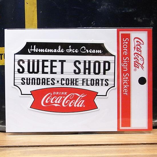 コカ・コーラ スイートショップ ステッカー シール アメリカン雑貨の画像