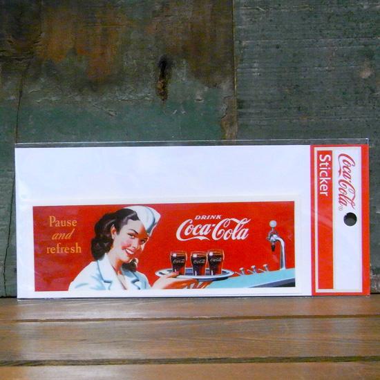 コカコーラ ステッカー COCACOLA DRINK STICKERS ステッカー シール アメリカン雑貨画像