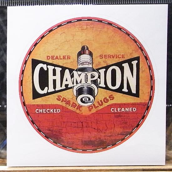チャンピオン ステッカーシール アメリカン雑貨の画像