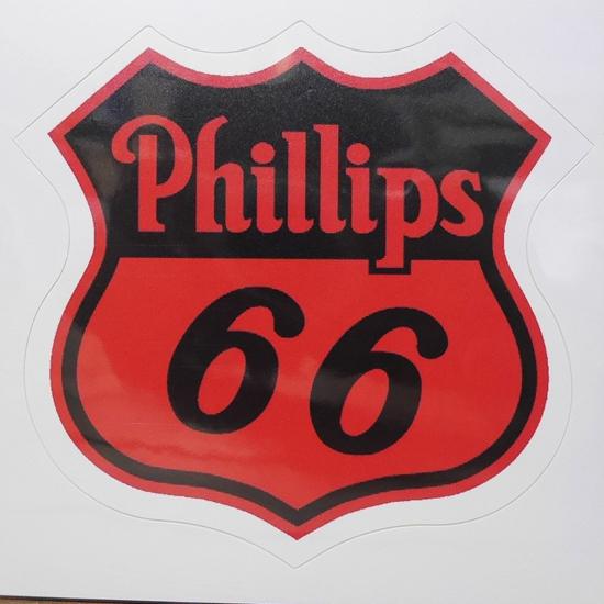 Phillips 66 ステッカー フィリップス モーターオイル シール アメリカン雑貨の画像