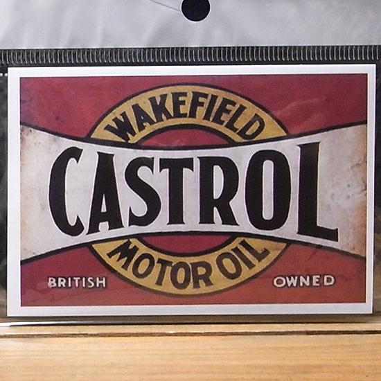 カストロール  ステッカーシール アメリカン雑貨の画像