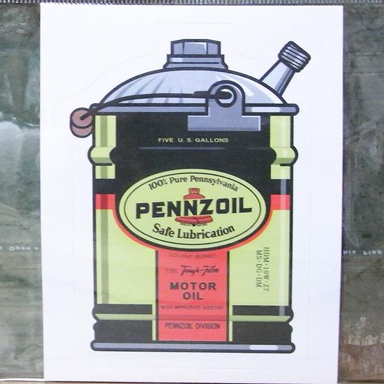 ペンゾイル オールドガロン缶 ステッカーシール アメリカン雑貨の画像