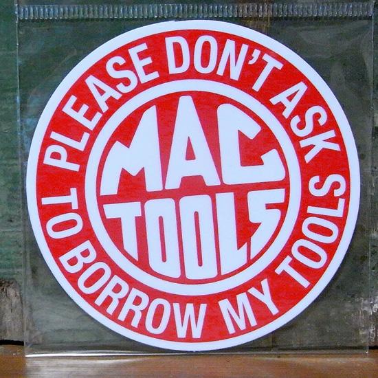 MACTOOLS レーシング ステッカー シール アメリカン雑貨の画像
