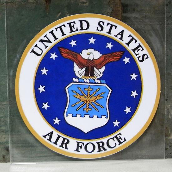 AIR FORCE ミリタリー ステッカー シール アメリカン雑貨の画像