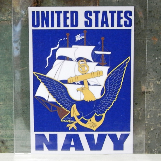 NAVY ミリタリー ステッカー シール アメリカン雑貨画像