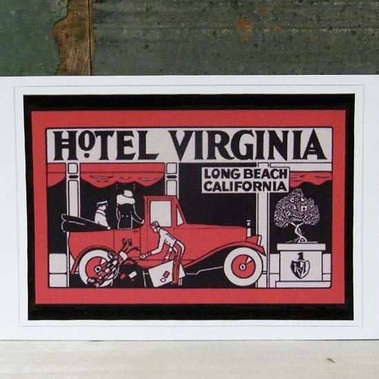 HOTEL VIRGINIA トラベル ステッカー ウォールステッカー アメリカン雑貨の画像
