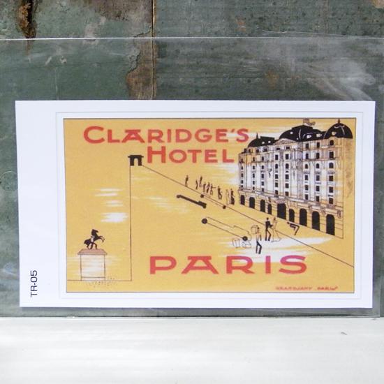 CLARIDGE'S トラベル ステッカー ウォールステッカー アメリカン雑貨の画像