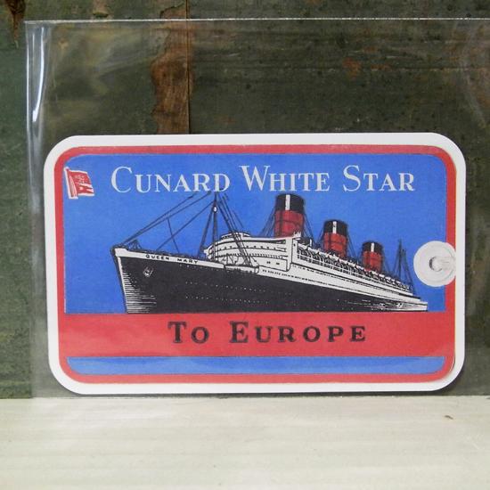 SHIP TO EUROPE トラベル ステッカー ウォールステッカー アメリカン雑貨の画像
