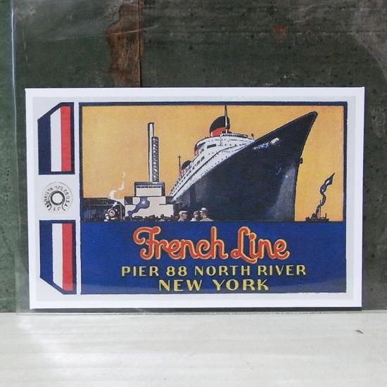 FRENCH LINE トラベル ステッカー ウォールステッカー アメリカン雑貨の画像