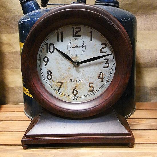 ルマンクロック置型時計 レトロ置き時計 アンティーク時計の画像