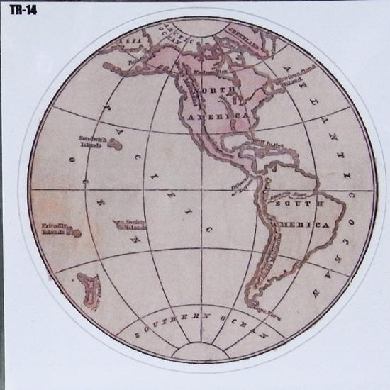 GLOBE IV トラベル ステッカー ウォールステッカー アメリカン雑貨の画像