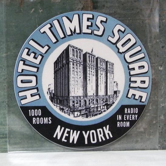 TIMES SQUARE トラベル ステッカー ウォールステッカー アメリカン雑貨の画像