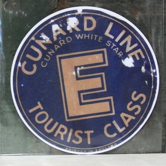 CUNARD LINE トラベル ステッカー ウォールステッカー アメリカン雑貨の画像