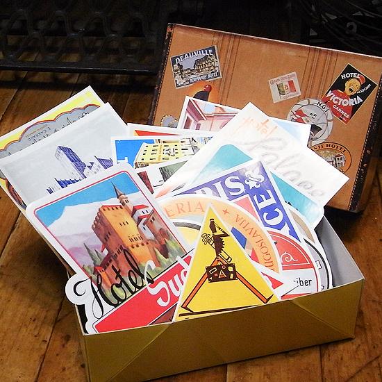 レトロホテル ステッカー 50枚セット ダルトン ウォールステッカー アメリカン雑貨の画像