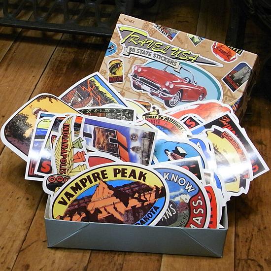 アメリカ50州 ステッカー 50枚セットダルトン ウォールステッカー アメリカン雑貨画像