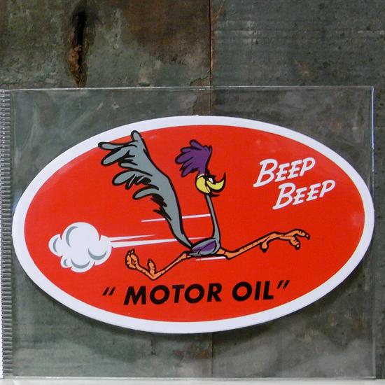 ロードランナー モーター ステッカー BEEPBEEP ステッカー シール アメリカン雑貨の画像