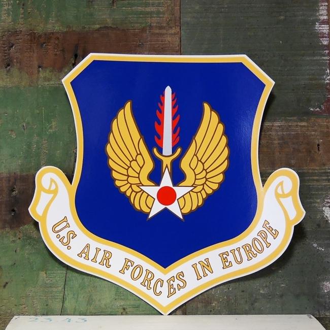 U.S. AIR FORCE ステッカー エアフォース USAF ミリタリー 特大シール アメリカン雑貨の画像