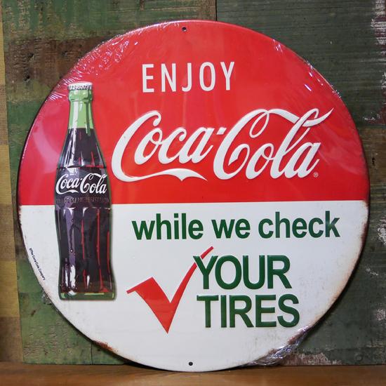 コカ・コーラエンボスサインブリキ看板 コークサイン看板 アメリカン雑貨の画像
