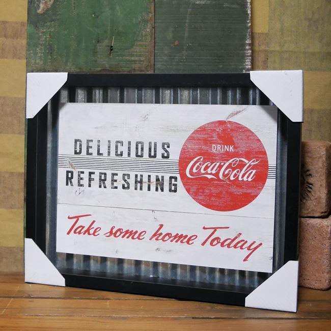 コカ・コーラコルゲートフレームティンサイン コークサイン看板 アメリカン雑貨画像