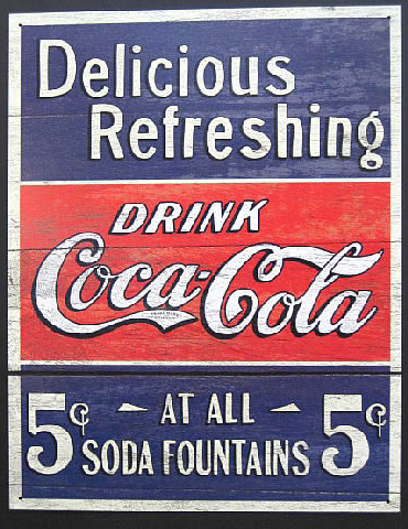 コカ・コーラブリキ看板 ティンサイン コークサイン看板 アメリカン雑貨の画像