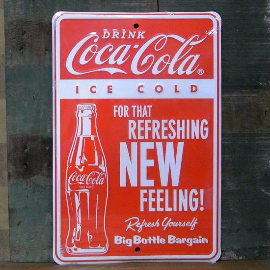 コカ・コーラサイン看板 ティンサイン コークサイン看板 アメリカン雑貨の画像