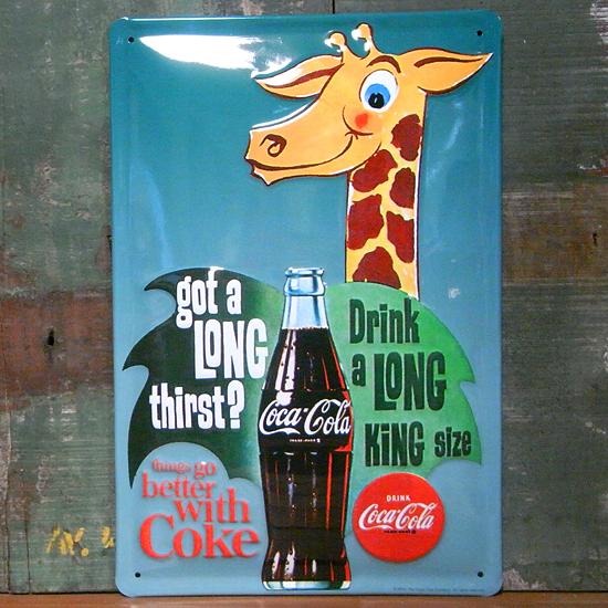コカ・コーラ 3Dエンボス看板 ティンサイン コークサイン看板 アメリカン雑貨画像
