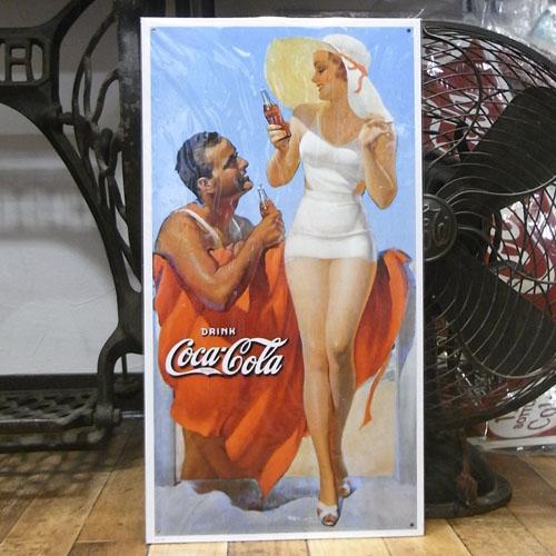 コカ・コーラ ブリキ看板 ティンサイン コークサイン看板 アメリカン雑貨画像