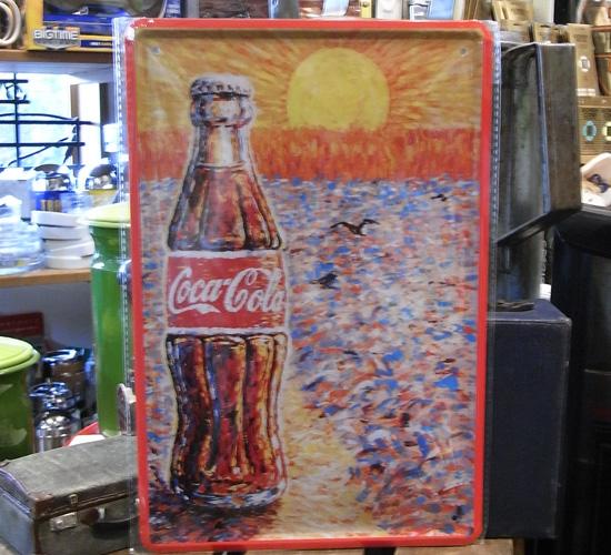 コカ・コーラ A4サイズ看板 ティンサイン コークサイン看板 アメリカン雑貨画像