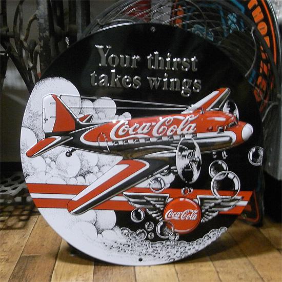 コカ・コーラ エンボス看板 ティンサイン コークサイン看板 アメリカン雑貨画像