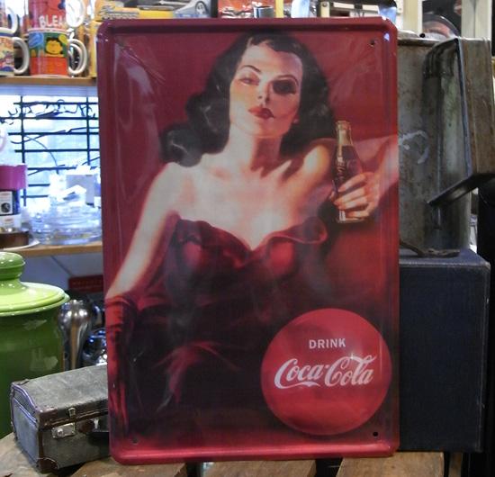 コカ・コーラ A4サイズ看板 ティンサイン コークサイン看板 アメリカン雑貨の画像