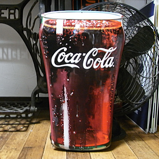 コカ・コーラ エンボス看板 ティンサイン コークサイン看板 アメリカン雑貨の画像
