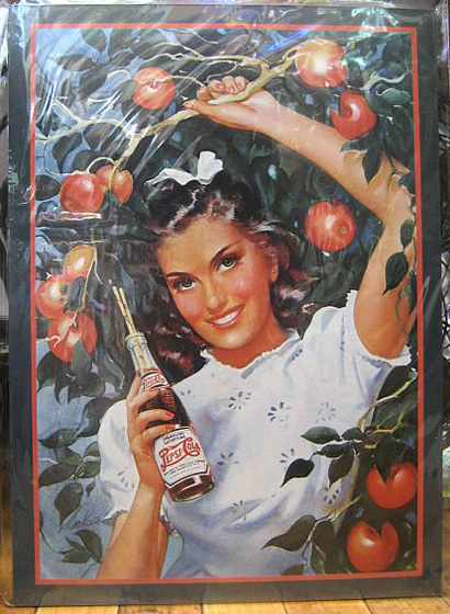 ペプシコーラ ブリキ看板 ティンサイン アメリカン雑貨の画像