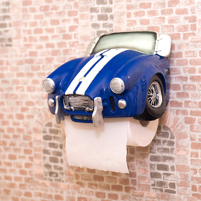 トイレットペーパーホルダー BLUE CAR シェルビー コブラ タイプ アメリカン インテリアの画像