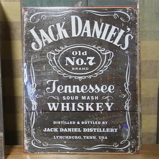 ジャックダニエルブリキ看板 ティンサイン アメリカン雑貨画像