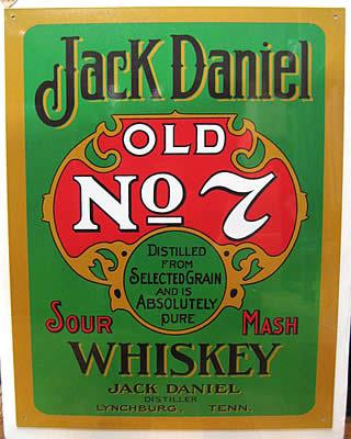ジャックダニエルブリキ看板 ティンサイン アメリカン雑貨の画像