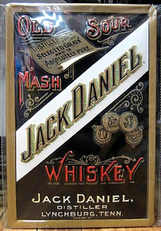 ジャックダニエル3Dエンボス看板 ティンサイン アメリカン雑貨の画像