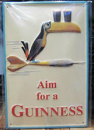 ギネスビール3Dエンボス看板 ティンサイン アメリカン雑貨画像