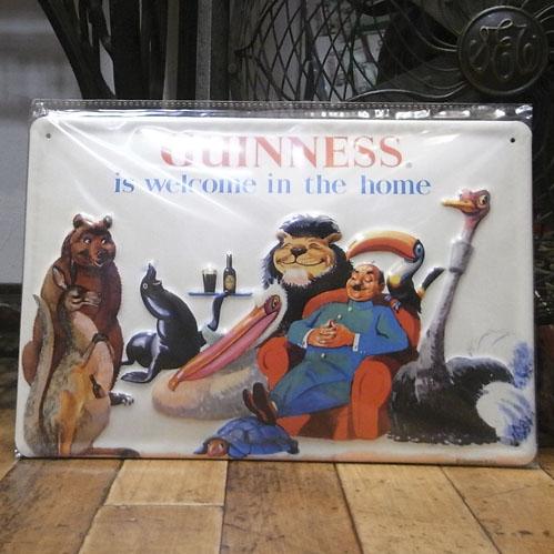 ギネスビール3Dエンボス看板 ティンサイン アメリカン雑貨の画像