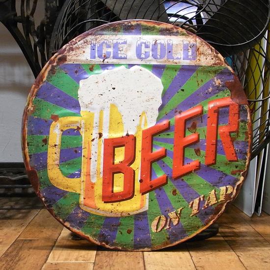 ビア ビール エンボス看板 ティンサイン アメリカン雑貨の画像