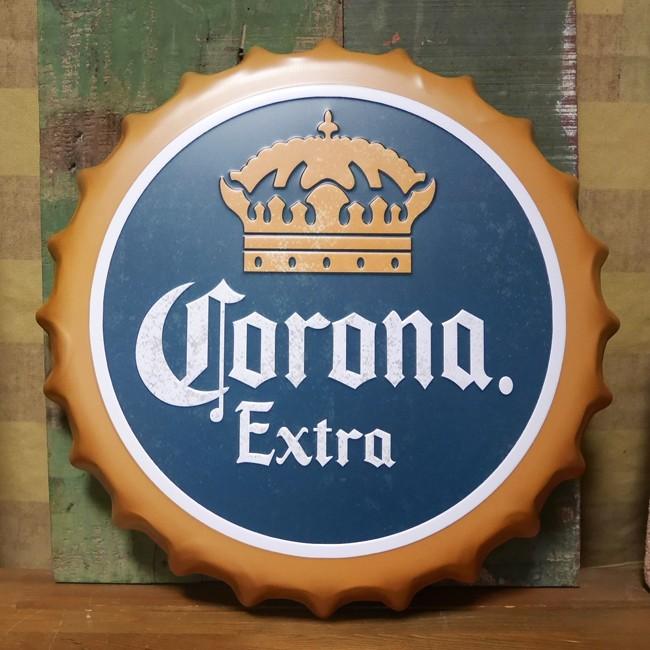 コロナビール 王冠型 ブリキ看板 インテリア メタルサインプレート Corona アメリカン雑貨の画像
